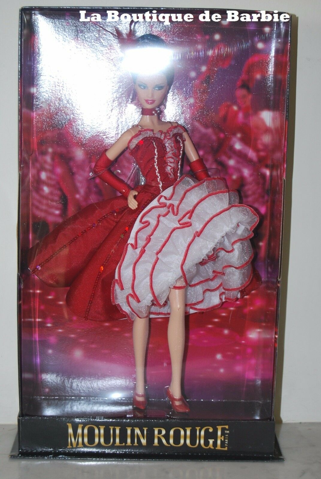 MOULIN rojo BARBIE DOLL, MORE FANTASY DOLLS COLLECTION, T7910, 2011, NRFB