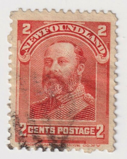 1897-1918 Newfoundland - Royal Family - 2 Cent Stamp - USED