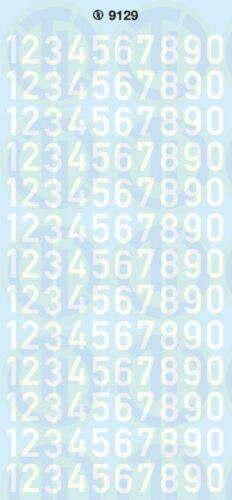 weiss Zahlen 9 mm
