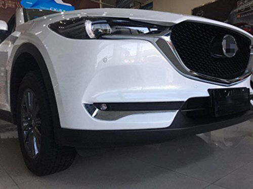 Chrome Front Fog Light Lamp Eyebrow Eyelid Trim Cover fits 2017-2019 Mazda CX-5