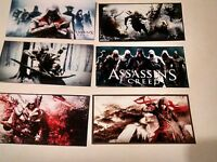 6 Large Assassin's Creed Video Game Stickers, Birthday Party Favor Decals