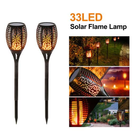 P//:35//51LEDS Solarleuchte Solarlampe Flackernde Flamme Fackel Effektlicht Garten