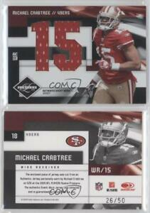separation shoes 69def 8efbc Details about 2009 Donruss Limited Jumbo Jerseys Jersey Number/50 #18  Michael Crabtree Rookie