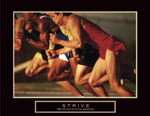STRIVE Sprinters off the Blocks Motivational Inspirational Running POSTER Print