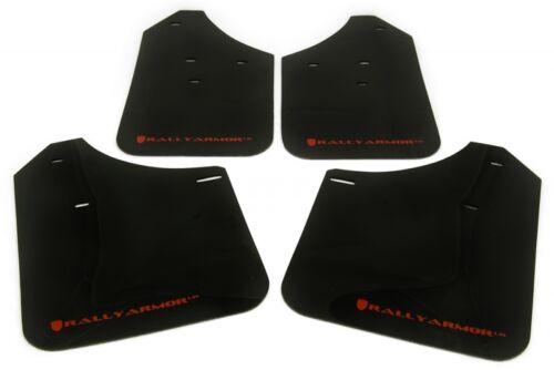 Rally Armor UR Black Mud Flaps Kit w// Red Logo for 93-01 Impreza 2DR /& 4DR