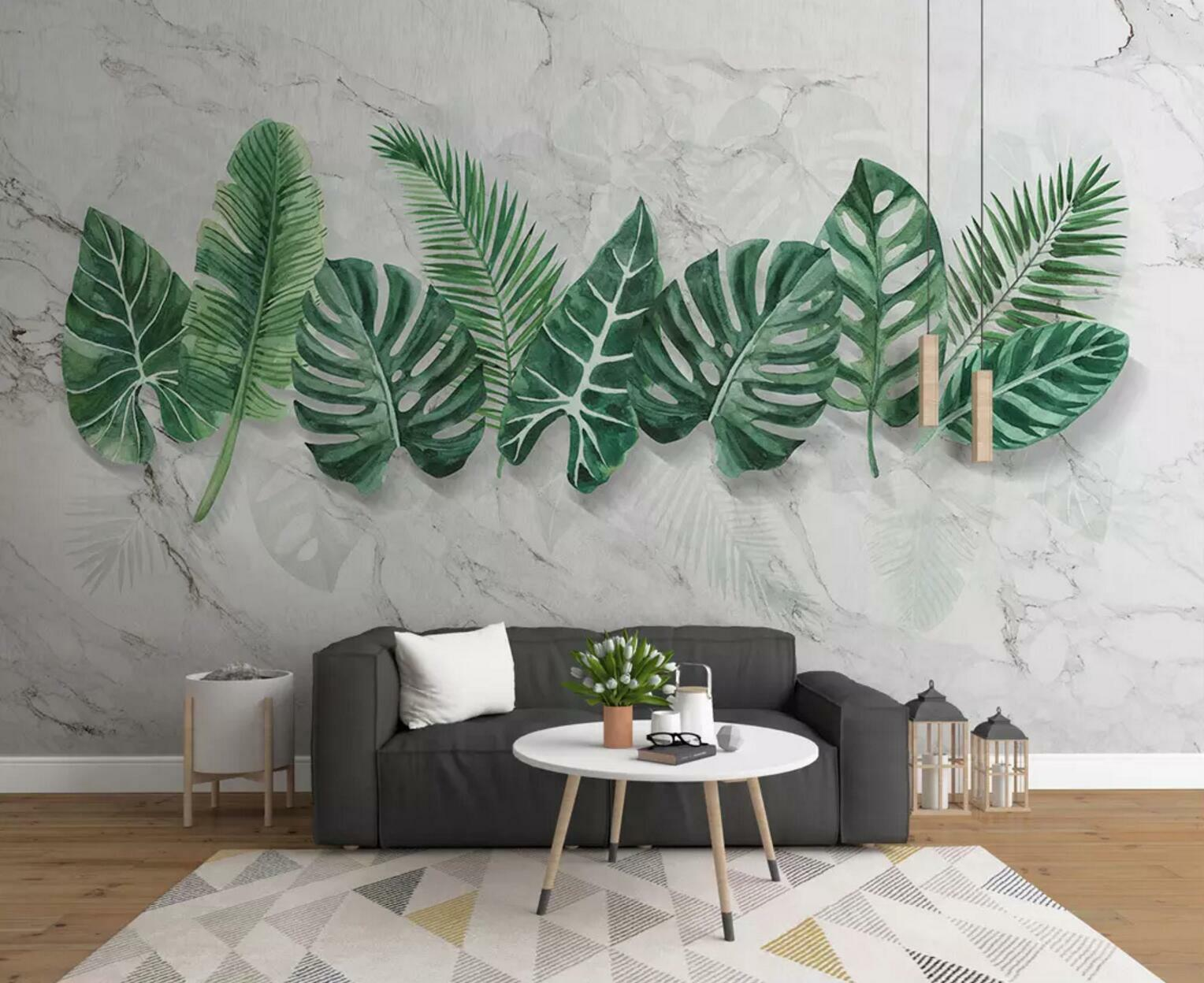 3D Grün Leaf 058 Wall Paper Exclusive MXY Wallpaper Mural Decal Indoor wall AJ