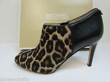 Michael Kors Size 10 M Leopard Leather Booties Heels New Womens Shoes