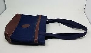 Bag My Spalla Denim A Maine Borsa Borsetta Marrone Tela Jeans Blu BqFqw