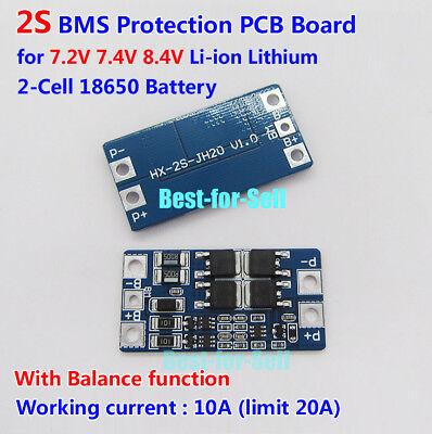 2 S 10 A 7.4 V protezione BMS Scheda PCB PER 18650 LITIO LiPo Li-Ion Batteria Cella