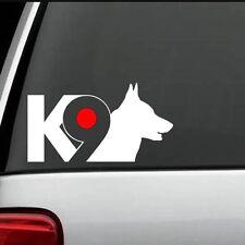 K-9 Dog Car Window Vinyl Decal Sticker (Any Color)