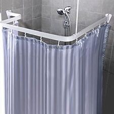 Bendable Shower Curtain Rod Flexible Curve Corner Custom Free Form Arch White