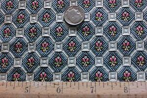 Antique-Doll-Scale-French-034-Hamot-034-19thC-Silk-Jacquard-Fabric-Sample-c1840-60