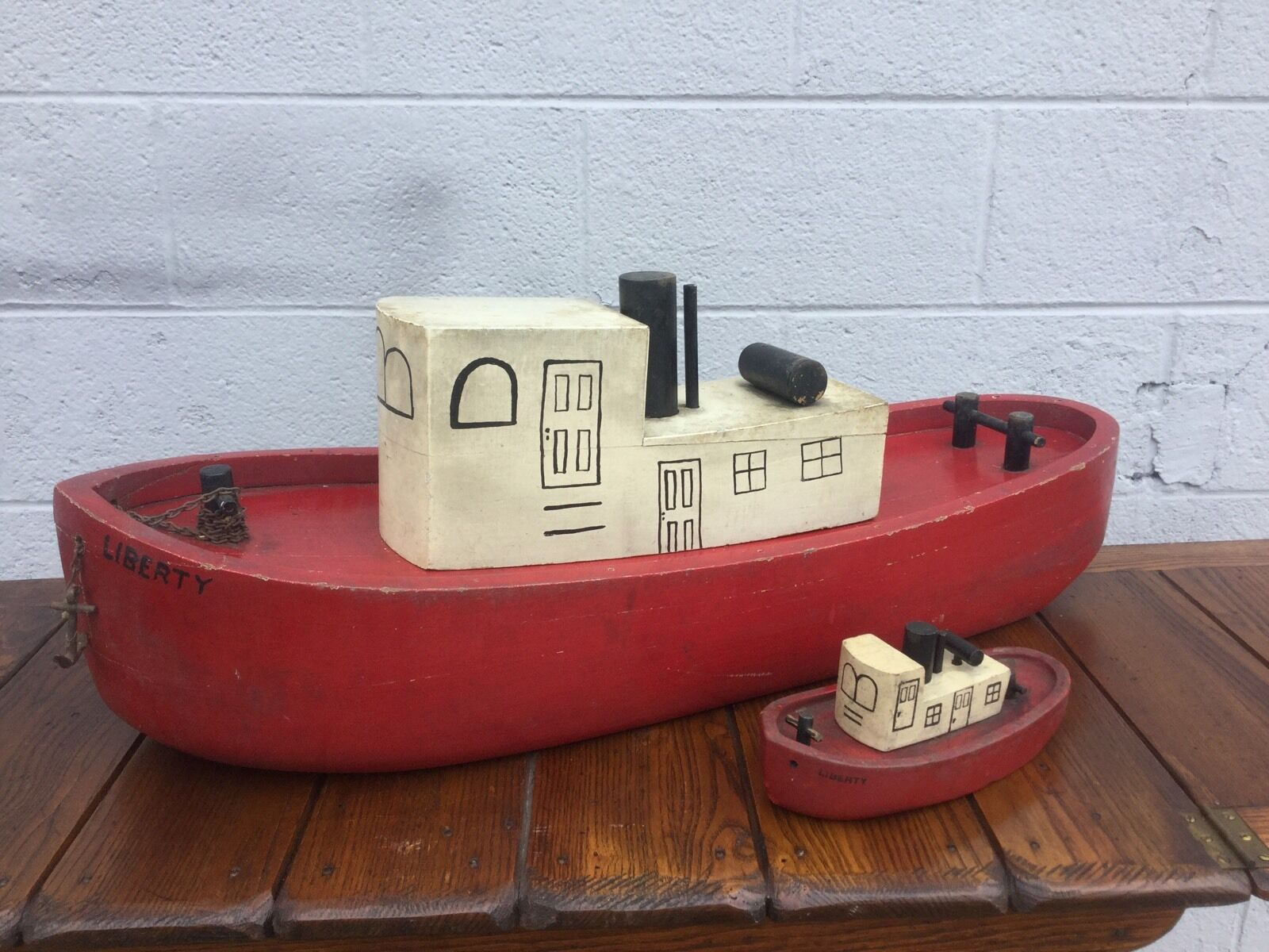 Vintage 1930-40's  Liberty  Tug Boat Tots Toys Store Display & Toy Cleveland