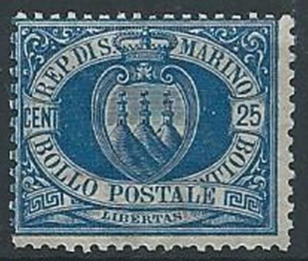 1894-99 San Marino Stemma 25 Cent Mnh ** - W140-6 à Distribuer Partout Dans Le Monde
