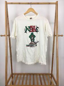 VTG-Vanz-90s-Men-039-s-University-Of-Maryland-Short-Sleeve-White-T-Shirt-Size-XL-USA