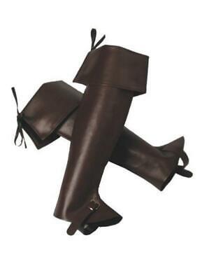 Obbiettivo Stivali Stivali Gambale Scalda Muscoli Scaldamuscoli Gambale Pirati Cowboy Moschettiere-mostra Il Titolo Originale
