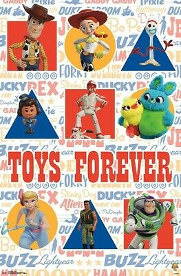 11x17 13x19 USA Disney Pixar Toy Story 1 2 3 4 Movie Poster Set All 4 Posters