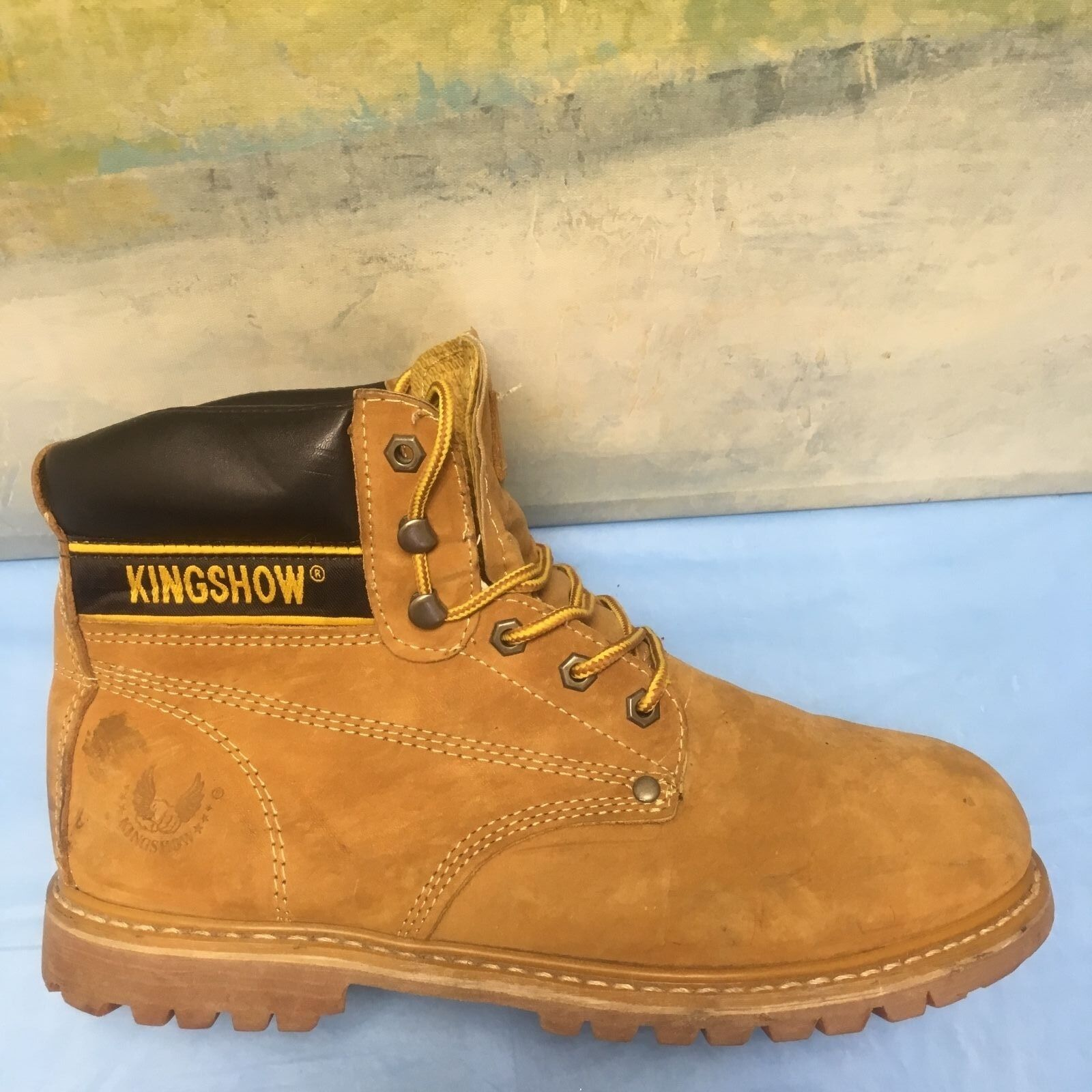 KINGSHOW 8036 Men's Classical Boots Wheat 12 D(M) US