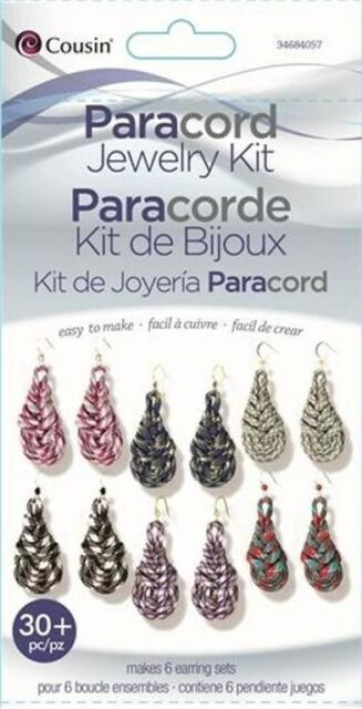 Kit---Tear Drop Paracord Earrings by Cousin---Makes Six Pair