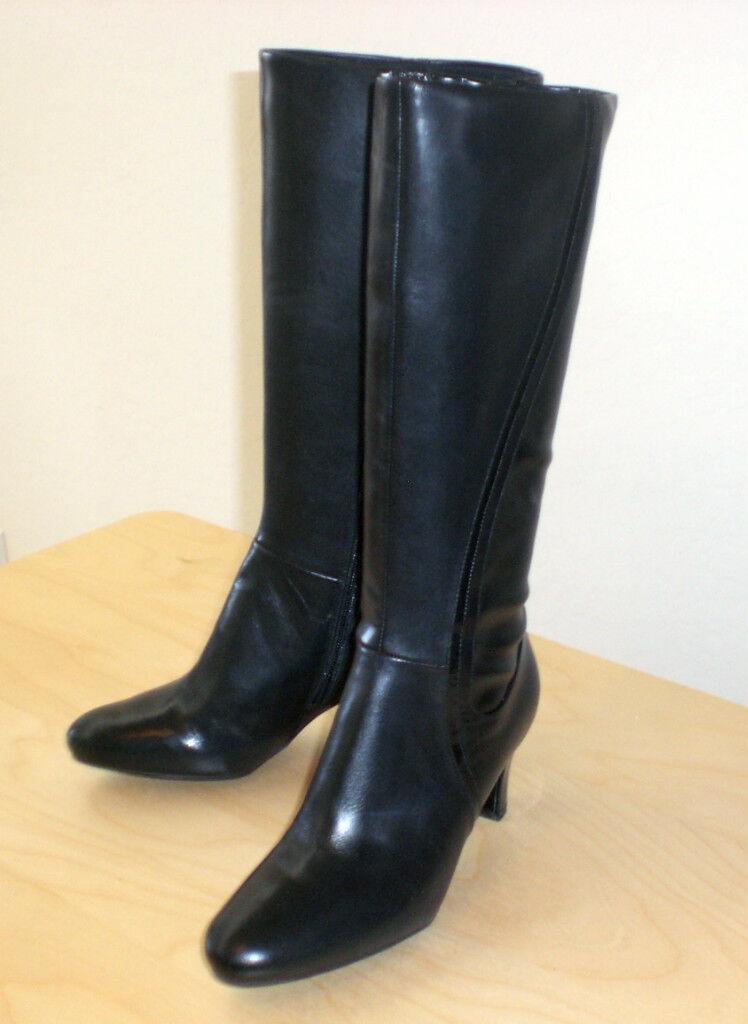 Easy Spirit Damans démarrage noir leather sz 10 Narrow NEW