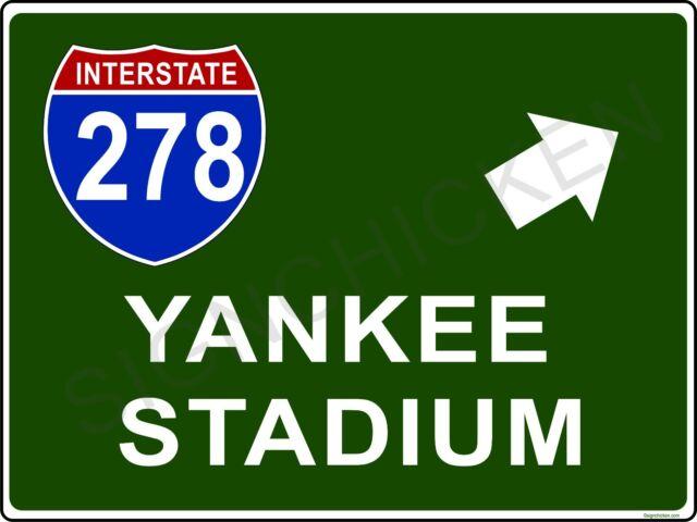 Mini Interstate Sign - New York i278 YANKEE STADIUM, New York,  baseball, decor