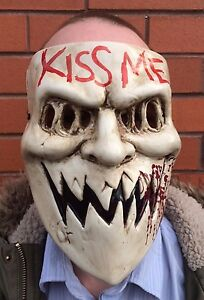 Details about The Purge 3 Mask Kiss Me Halloween Fancy Dress Horror Costume  Election Year NEW