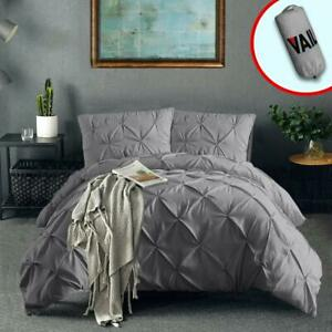 Vailge-3-Piece-Pinch-Pleated-Duvet-Cover-with-Zipper-Closure-100-120gsm-Microf