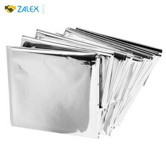 50 Lot Emergency Mylar Blankets 84  x 52  Reusable Waterproof Heat Retention New