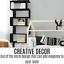 thumbnail 9 - Black 6 Tier Display Shelf Bookcase Book Storage Bookshelf Rack Unit Stand Black