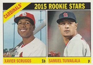 2015-TOPPS-HERITAGE-XAVIER-SCRUGGS-SAMUEL-TUIVAILALA-CARDS-ROOKIE-STARS-179