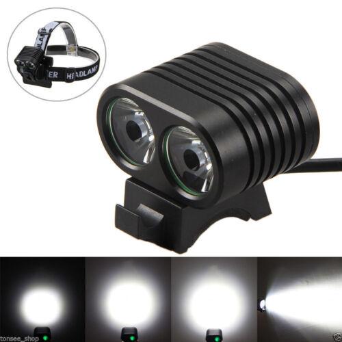 Super Hell Fahrradlicht Fahrradlampe USB LED Fahrradbeleuchtung Scheinwerfer Set