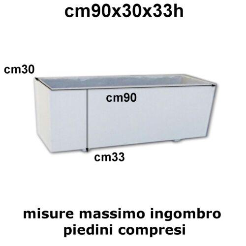 FIORIERE IN CEMENTO-FIORIERE DA BALCONE CM90 NELLE VARIE MISURE BIANCA E GRIGIA