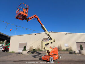 2011 JLG E400AJPN 40' Electric Articulating Boom Lift Man Aerial Jib bidadoo