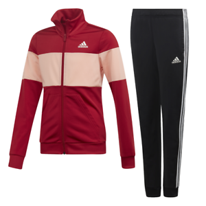 Details about Adidas Girls Track Suit Hooded Set Running Training School Fashion Sports ED4640