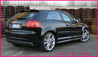 audi a3 8p 3 door s line rear roof spoiler 2004 2010 ebay. Black Bedroom Furniture Sets. Home Design Ideas