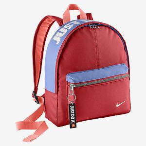 nike just do it sac jdi rucsac sac dos rouge bleu neuf. Black Bedroom Furniture Sets. Home Design Ideas