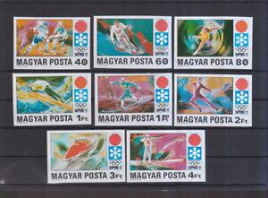 Ungarn-1971-postfrisch-MiNr-2720B-2727B-Olympische-Winterspiele-1972-Sapporo