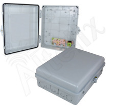 Altelix 14x11x5 Polycarbonate ABS Weatherproof NEMA Box Outdoor Enclosure Gray