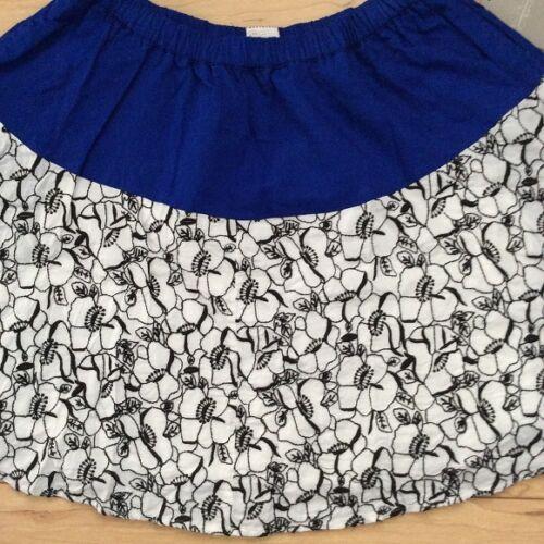 Postmark Cotton Full Bellflower Bloom Skirt Var Sizes Blue NW ANTHROPOLOGIE Tag