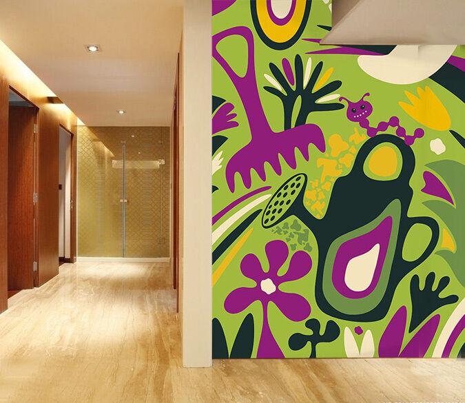 3D Garden insects 1 WallPaper Murals Wall Print Decal Wall Deco AJ WALLPAPER