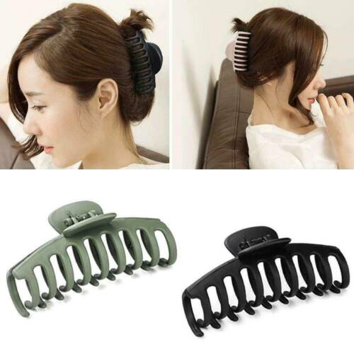Korean Style Women Large Hair Claw Clip Solid Color Acrylic Clamp Hairpin Gift