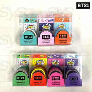 BTS-BT21-Official-Authentic-Goods-Masking-Tape-15mm-25mm-Character-Group