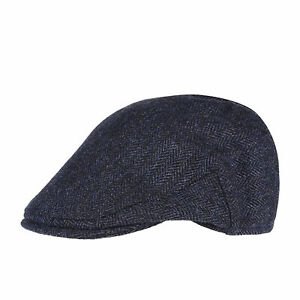 Christys Hats Balmoral Tweed Mens Headwear Cap - Navy Country All Sizes |  eBay