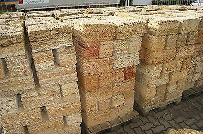 5 Paletten Mauersteine aus Muschelkalkstein Sandstein Naturstein 20x20x40cm