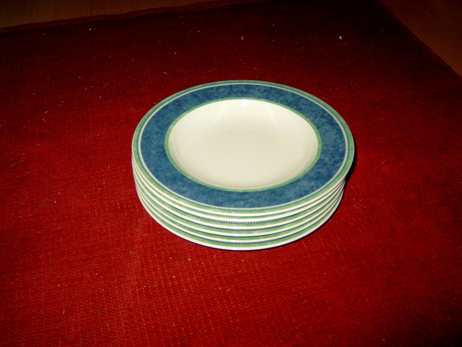 VILLEROY & BOCH, 6 assiettes à soupe, série  Switch 3 Costa, 23 cm article neuf