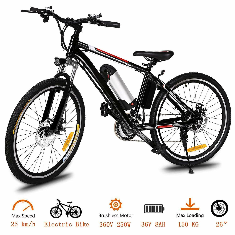 "26"" 250W ANCHEER Foldable Aluminum Electric Mountain Bike Ebike Cycling US"