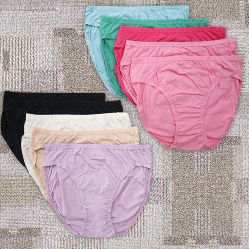 Clearance10 pack Bonds Womens Full Brief High Cut 100/% Cotton Underwear size M L