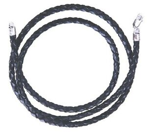 Braided-Twist-Rope-Black-Leather-Cord-Chain-Necklace