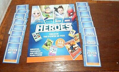 16 unopened packs cards 3 bonus cards NEW Sainsburys Disney Heroes Card Album