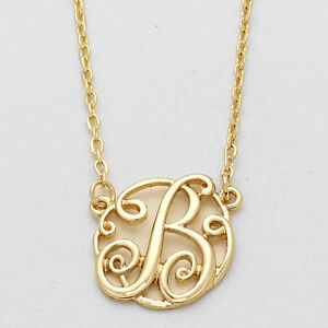 Initial necklace curlique pendant letters a z monogram 15 silver image is loading initial necklace curlique pendant letters a z monogram 1 aloadofball Gallery